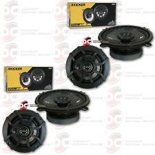"""4 x KICKER 5.25-INCH 2-WAY 4 OHM CAR AUDIO COAXIAL SPEAKERS 225W 5-1/4"""""""