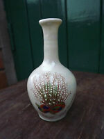 Crested China Lucky White Heather from Melrose small vase