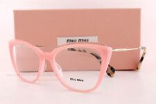 c5434c5befb7 Brand New Miu Miu Eyeglass Frames MU 02QV VYB Pink/Gold Women Size 53