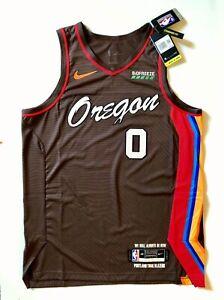 NIKE Lillard Authentic Portland Trail Blazers NBA City Edition PRO Jersey SZ 48
