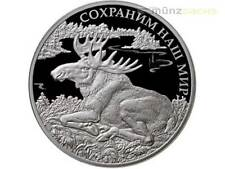 3 Rubel Save our World Elch Elk Moose Russland 1 oz Silber PP 2015
