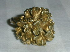 FLORA DANICA EGGERT DENMARK GOLD WASHED STERLING ORGANIC RING- SIZE 9 1/2!