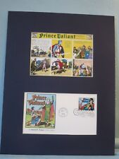 Famed Comic Strip - Prince Valiant and First Day Cover of his own stamp