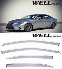 For 14-UP Lexus IS 250 350 200t WellVisors Side Chrome Trim Window Visors