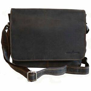 """NEW Leather Laptop Bag 13"""" Messenger Bag Shoulder Bag Men Women Brown AU"""