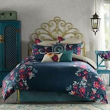 3 PC Anthology XL TWIN DUVET SET ~ Blue Fuschia Teal ~ PENELOPE ~ Dorm