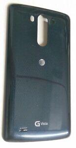 New OEM LG G Vista D631 Back Cover Battery Door - AT&T- Indigo Black