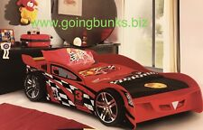 Car Bed King single SOLID Red New fibre glass front New Kids