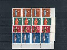 BRD Mi.-Nr. 412-415 postfrisch Viererstreifen Fische - b1369