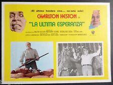 THE OMEGA MAN  ORIGINAL 1971 LOBBY CARD CHARLTON HESTON ROSALIND CASH