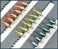 Trout Flies Trout Flies for Fly Fishing Nymph Buzzers 33J Range Hook 10 12 14 UK