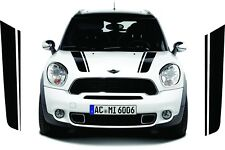 Mini Countryman Cooper Modern S D bonnet stripes stickers Decals any colours