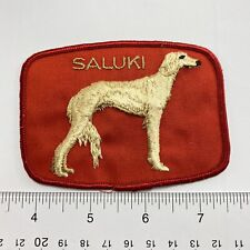 Vintage  Dog Pet Breed English Saluki  Sew-On Patch . Show Label