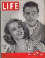 ORIGINAL Vintage March 7 1949 Life Magazine Marge & Gower Champion