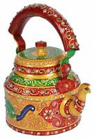Indian Traditional Hand Painted Peacock Kettle Tea Chai Christmas New Year Gift