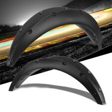 "Black Pocket-Riveted Race Wheel Fender Flare Guard For Universal RWD 12.5""F/14""R"