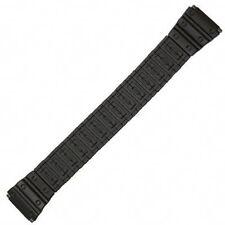 Mens 18-22mm Black Sport Metal Watch Band Fits Casio G Long