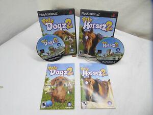 Petz Lot of 2 Horsez 2 Dogz 2 ps2 (Sony PlayStation 2, 2007) Complete