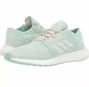 Adidas PureBoost Go Running Shoes Clear Mint White Womens Running Size 10