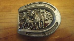 Used 1984 Bergamot Brass Works Horseshoe belt with horses on #Q-146