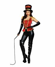 Dreamgirl Women`s Flirty Lion Tamer Circus Costume Dress red/Black Small