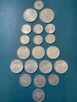 1916-1930 Collection Of 20 France Emergency Coins 5,10,25 Centimes.XF-AU-UNC !