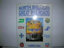 """"""" North America's Great RR"""" by York 189 pages  lot # 9239"""
