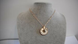 Mother of Pearl Golden Necklace Gift Boxed