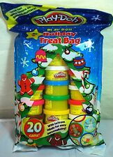 Play-Doh Holiday Treat Bag 20 Cans Modeling Compound