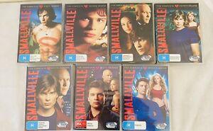 SMALLVILLE Season 1,2,3,4,5,6,7, (DVD R4) - Very Good Condition + Free Postage