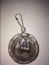 Sestertius Of Nero Roman Coin WC29 From Fine English Pewter on A Zip Puller