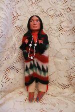"Antique Indian Skookum Bully Good Doll Original Label 11 1/2"""