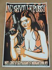Christopher Lands Nashville Pussy Poster 2007 123 Pleasant St. Morgantown WV