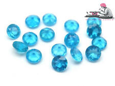 Natural Neon Apatite 2.5mm Round Cut 25 Pieces Blue Color Loose Gemstone UK