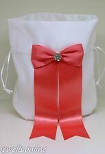 blanc corail strass demoiselle d'honneur Sac Bourse accessoires de mariage