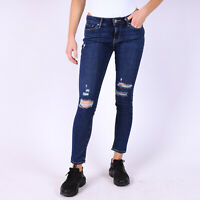Levi's 711 Skinny Damage is Done distressed blau Damen Jeans DE 36 / W28 L30