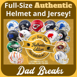 GREEN BAY PACKERS signed Gold Rush AUTHENTIC Full-Size Helmet + Jersey BOX BREAK