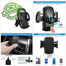 Support Voiture Porte Téléphone Grille Aération iPhone Samsung 360° Universe