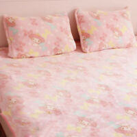 My Melody Pink Fleece Blanket Bed Sheet Plush Tapestry Bedding Sheet Cute Warm