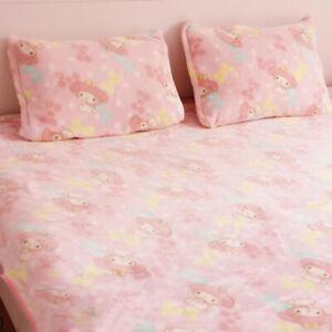 My Melody Pink Fleece Blanket Bed Sheet Plush Tapestry Bedding Sheet Cute Warm