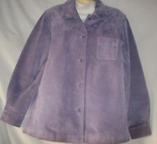 Women's Lilac Suede Jacket Size Large