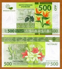 French Pacific Territories, 500 Francs Nd (2014) P-5, Unc > Flowers