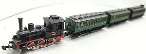 N Minitrix 0-6-0 Switcher Locomotive DB 3-Passenger Set 2 (Tested) LNIB