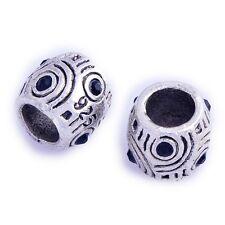 5Pcs Mens Silver Plated Blue Cubic Zirconia BEADS Pugster European Bracelet
