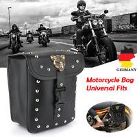 Motorrad Satteltasche Werkzeugtasche Seiten Gepäcktasche PU leder für Harley