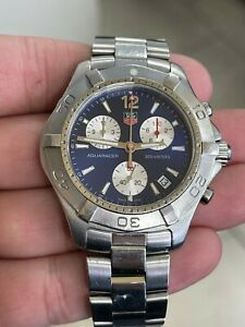 Tag Heuer Aquaracer Blue 42mm Stainless Steel Chronograph CAF1112 Quartz Watch