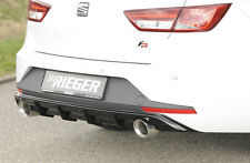 Heckeinsatz Diffusor Schwarz Glanz Seat Leon 5F ST Duplex 00088104 RIEGER-Tuning