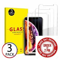 Premium Real Screen Protector Tempered Glass Film iPhone 5 6 7 8 Plus Xs Max