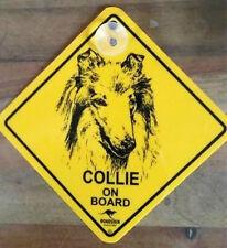 12cm Roadsign Schild mit Saugnapf  COLLIE Warnschild Hund