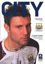 MAN CITY v LEEDS UTD 2012/13 FA CUP MINT PROGRAMME MANCHESTER